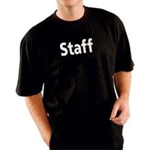 "Kitchen Staff Team T-Shirt Black Extra Large XL fit 48""-50"""